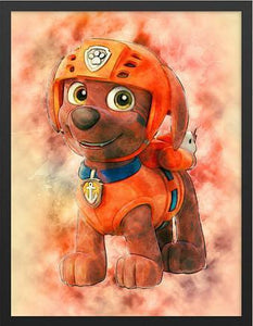5D Diamond Painting Zuma from Paw Patrol Kit