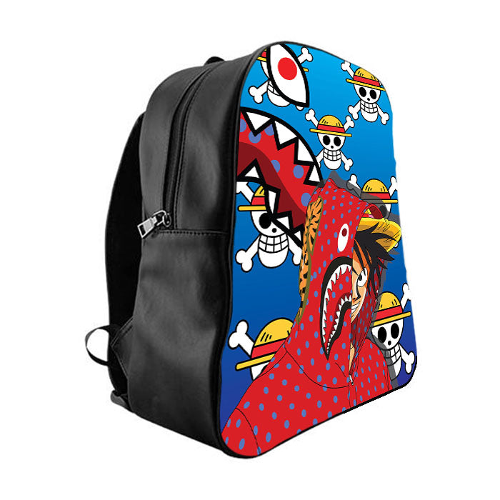 70067786ee49 LUFFY CAMO BAPE SUPREME School Bag Backpacks - babyshark co