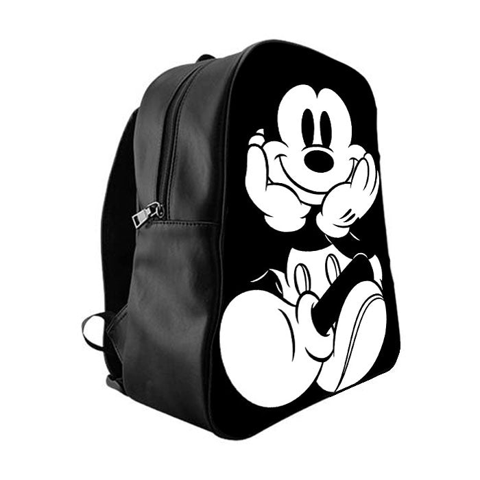 a729c797baf7 Mickey Mouse Black White School Bag Backpacks - babyshark co