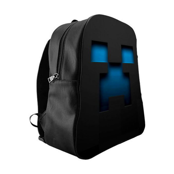 Minecraft Blue Creeper School Bag Backpacks - babyshark co 268a84f8f6e8d