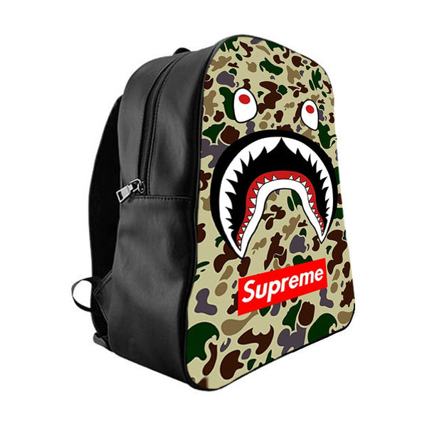 d855e1a68ac2 SHARK CAMO BATHING APE SUPREME School Bag Backpacks - babyshark co
