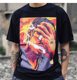 Aelfric Eden Hip Hop Smoking Printed T Shirts 2018 Hip Hop Casual Cotton Tops Tees Men Summer Streetwear Skateboards Tshirt Rn02 SH190715