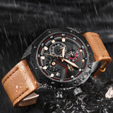 """The Onyx"" Luxury Chronograph Leather"