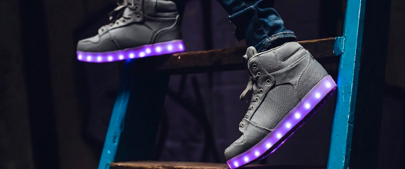 Light up Trainers Adults & Kids LED Shoes | Flash Wear UK Brand