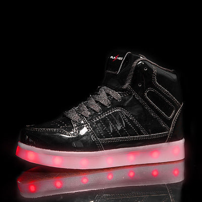 Flashez Black V2 Hi-Tops