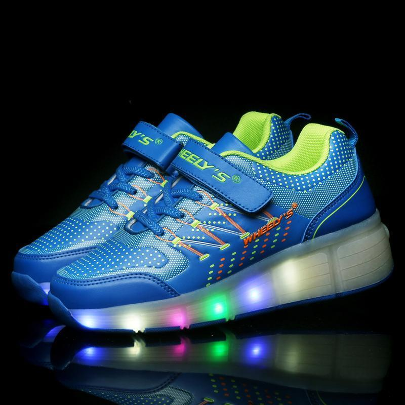 Roller Wheely LED Shoes - Blue