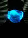 Fibre Optic Rechargeable Light up Face Mask MASK WITH (4) PM 2.5 CARBON FILTERS
