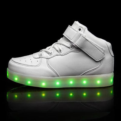 Infants Flash Wear White Hi-Tops
