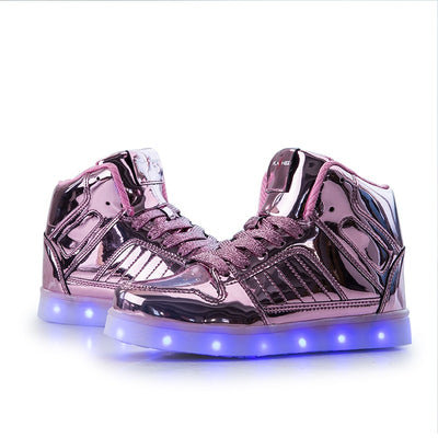 Rose Gold LED Kids Shoes