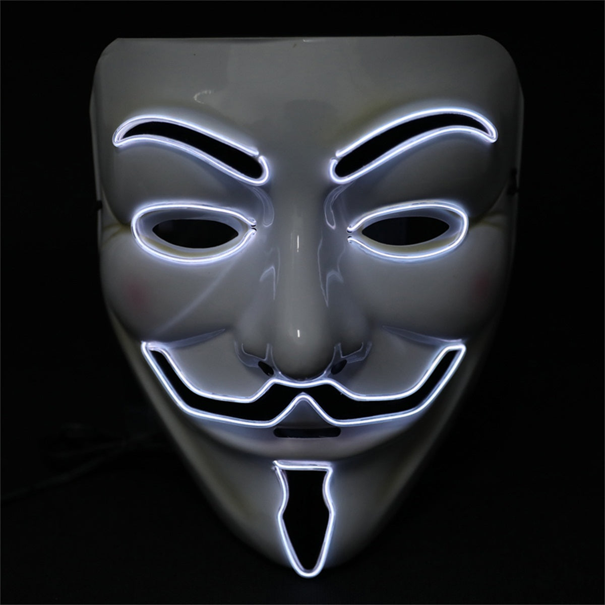 Light up Anonymous Mask - White