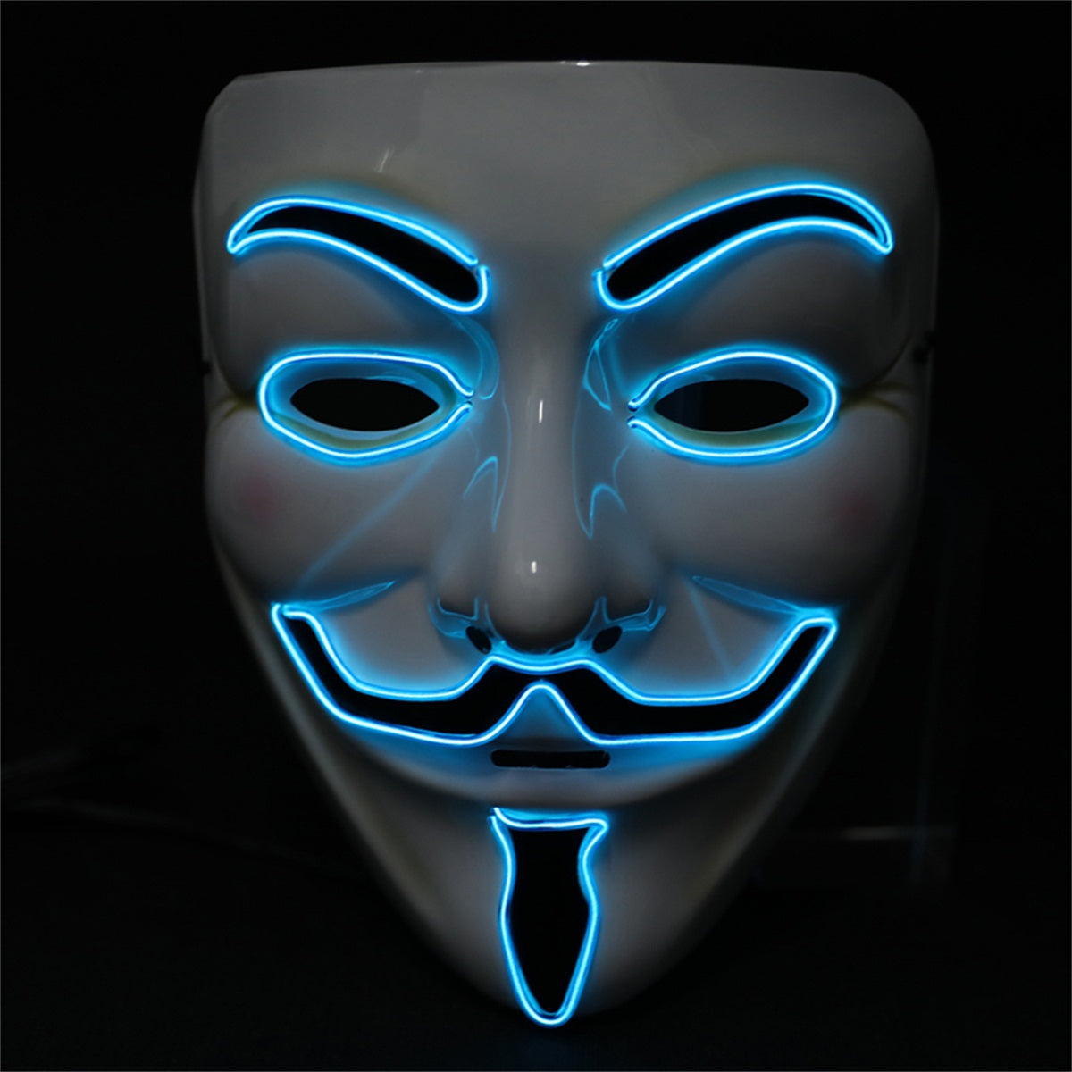 Light up Anonymous Mask - Blue
