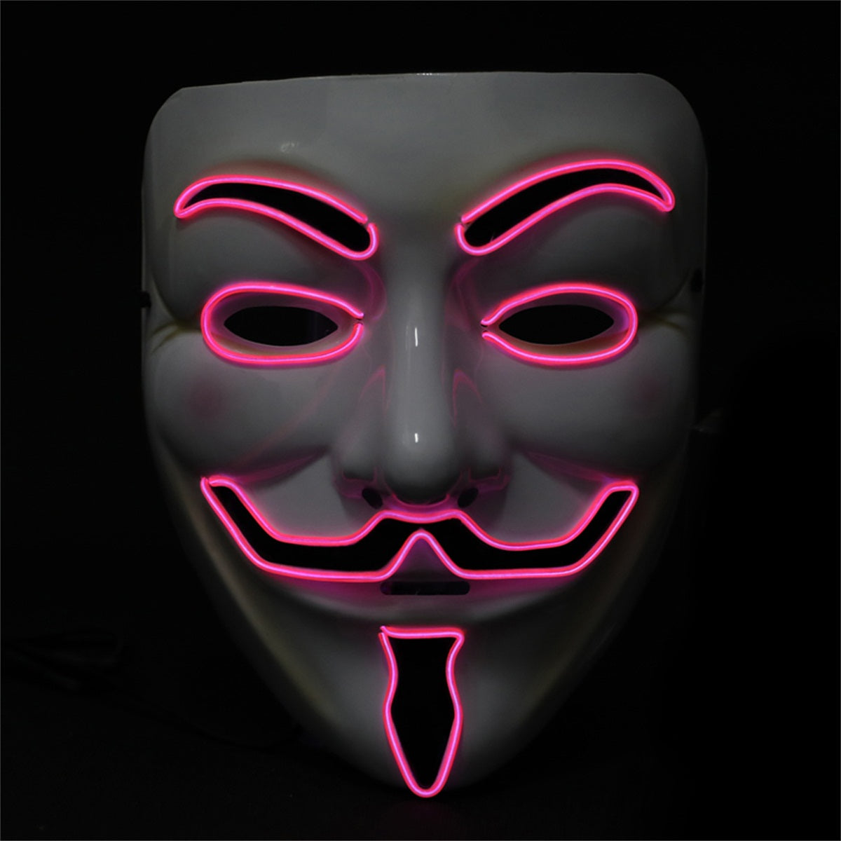 Light up Anonymous Mask - Pink