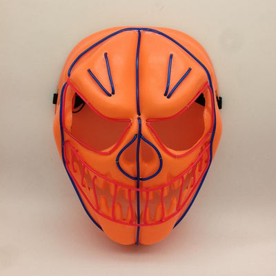 Light Up Flash Mask Pumpkin - Masks
