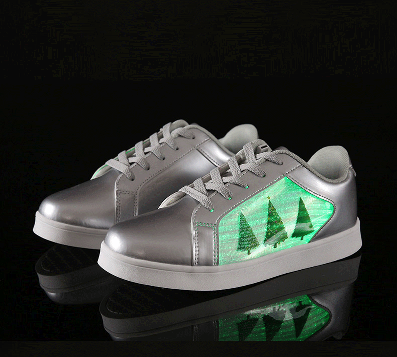 Christmas LED Fibre Optic Panel Shoes