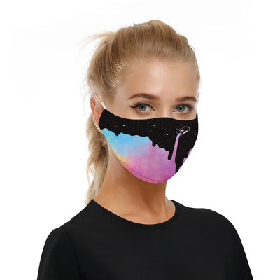 PAINT DRIP BLACK - MASK WITH (4) PM 2.5 CARBON FILTERS