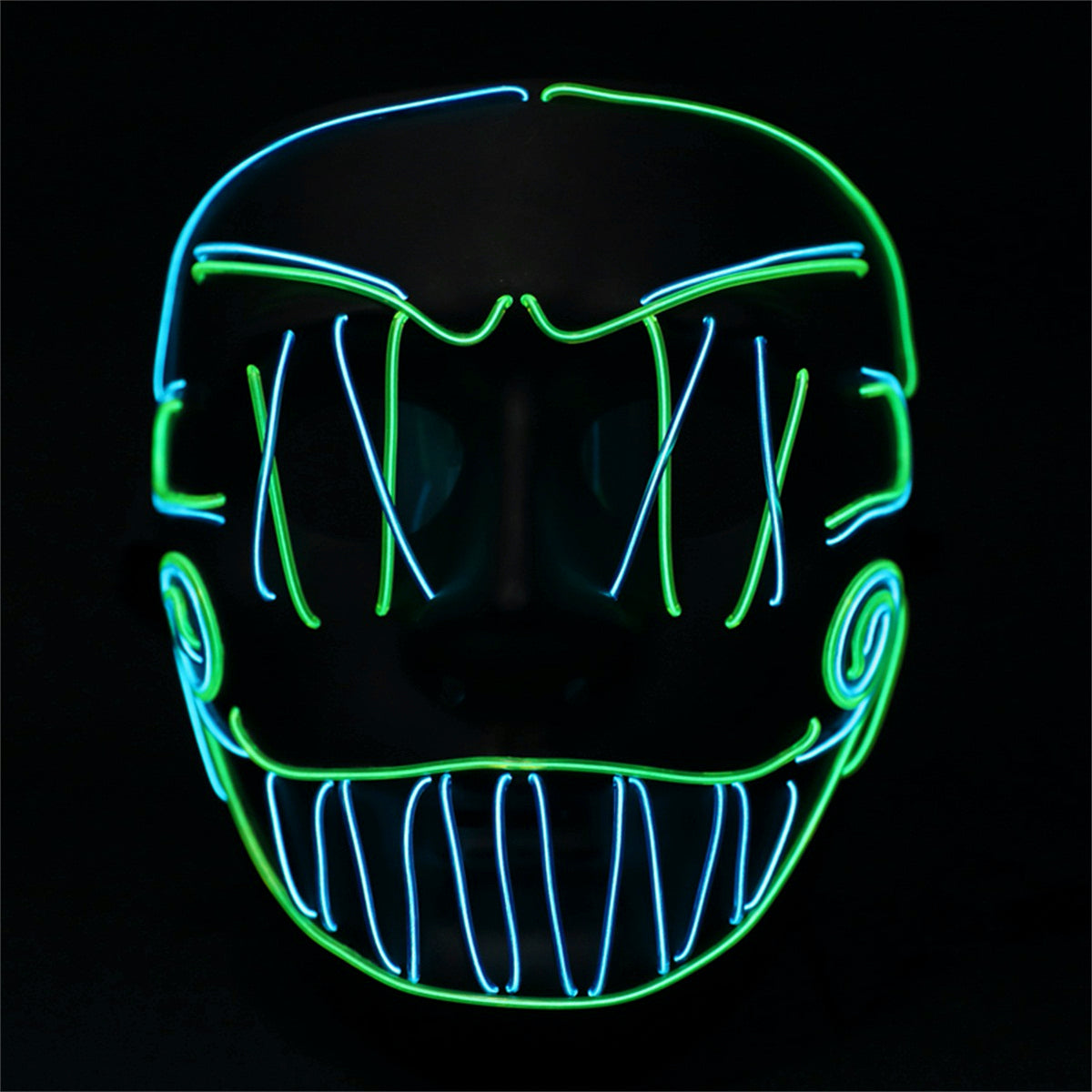 Cross Stitch Joker LED Mask