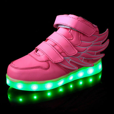 Flashez Pink Kids  - LED Thunder Shoes