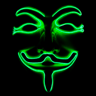 Light up Anonymous Mask - Green