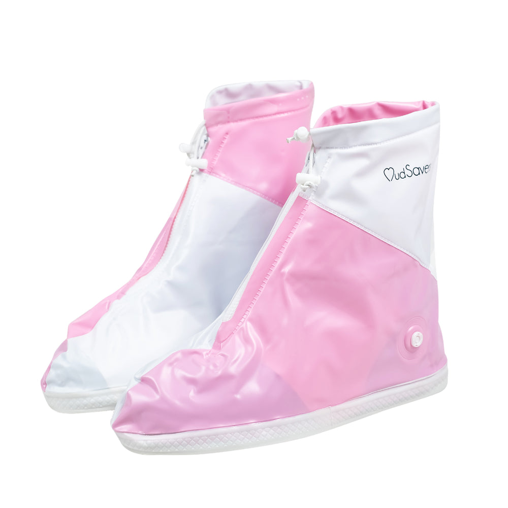 MudSavers Pink/White Shoe Covers