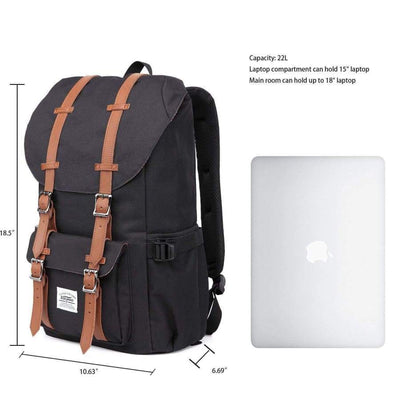 Backpack - Black/Brown Backpack