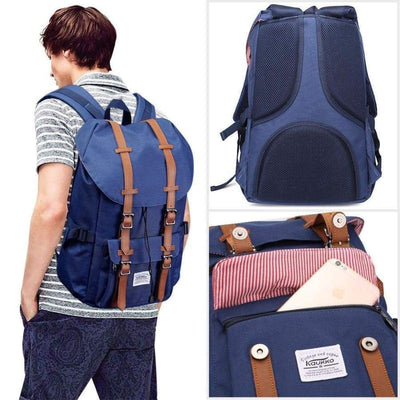 Backpack - Navy/Brown Backpack