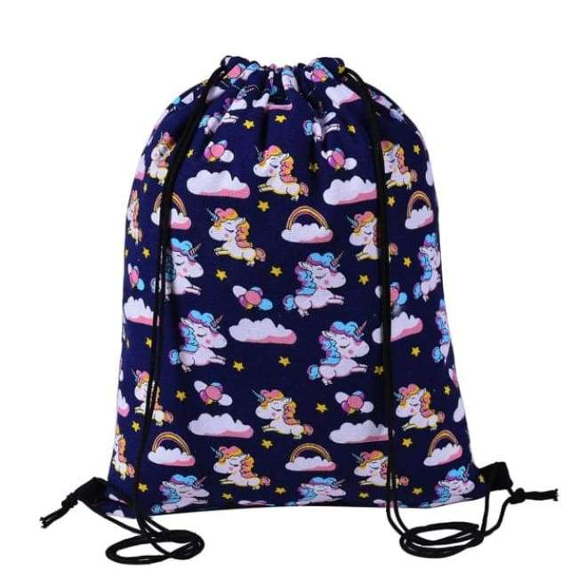 Bags - Flash Wear Unicorn Drawstring Bag
