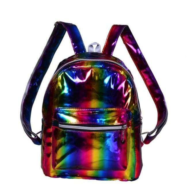 Bags - Multicolour Shiny Backpack