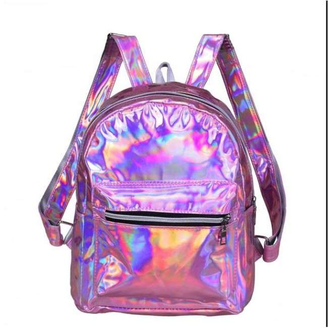 Bags - Pink Shiny Backpack