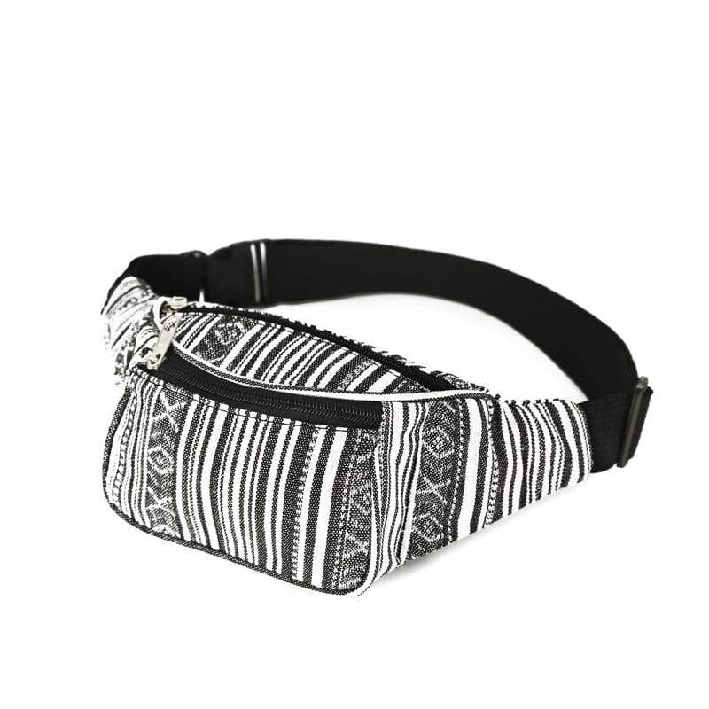BUMBAG - Black/White Mix Canvas Bumbag