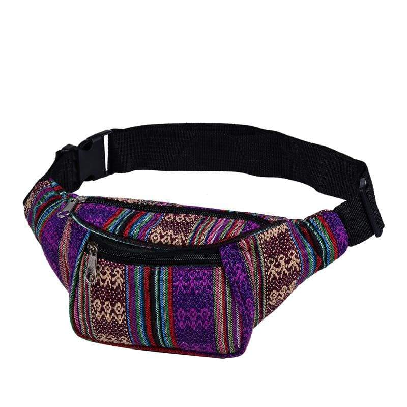 BUMBAG - Purple Canvas Bumbag