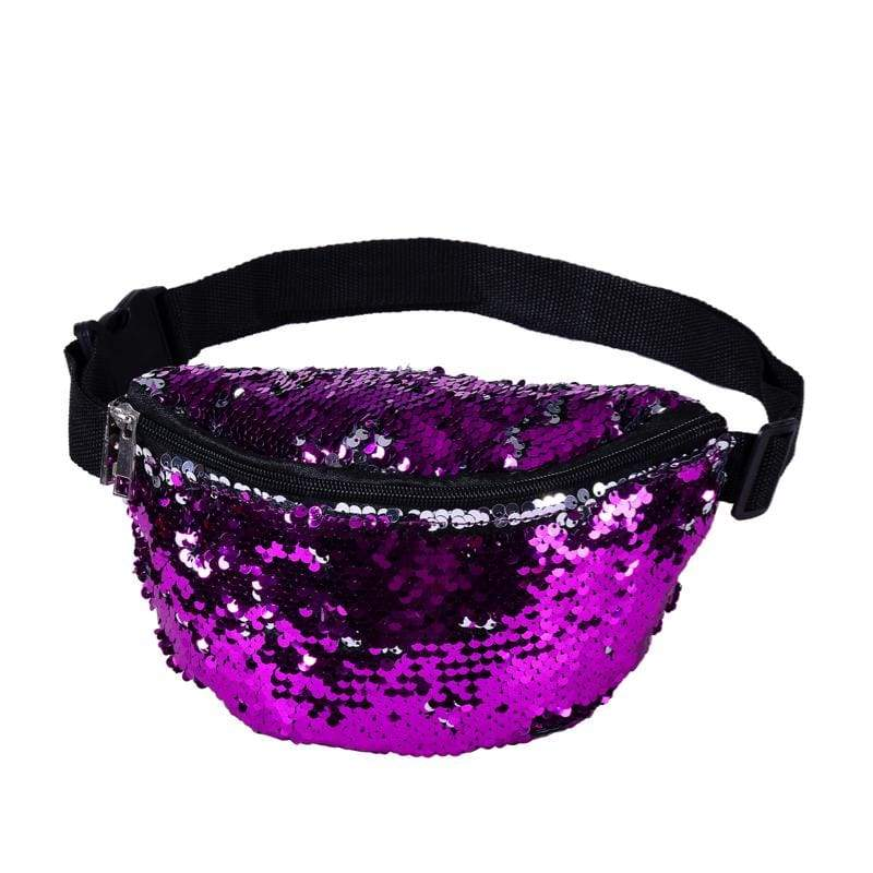 BUMBAG - Purple Sequin Bumbag