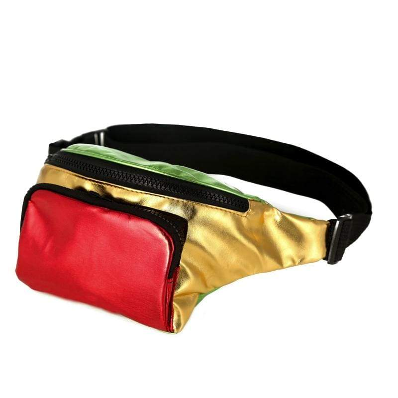BUMBAG - Red/Gold/Green Bumbag