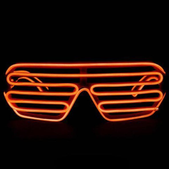 EL Wire Shutter Glasses - Orange