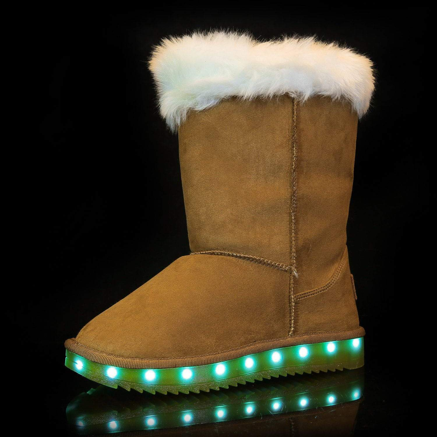 Flashez LED Footwear - Flash Wear LED Chestnut Calf Boots