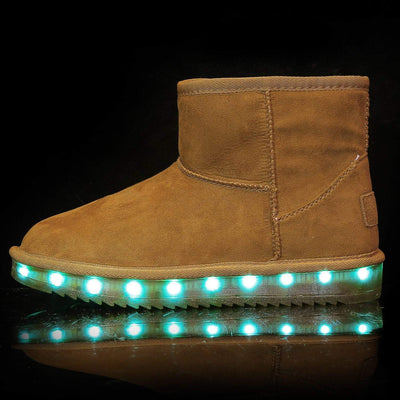 Flashez LED Footwear - Flash Wear LED Chestnut Mini Boots