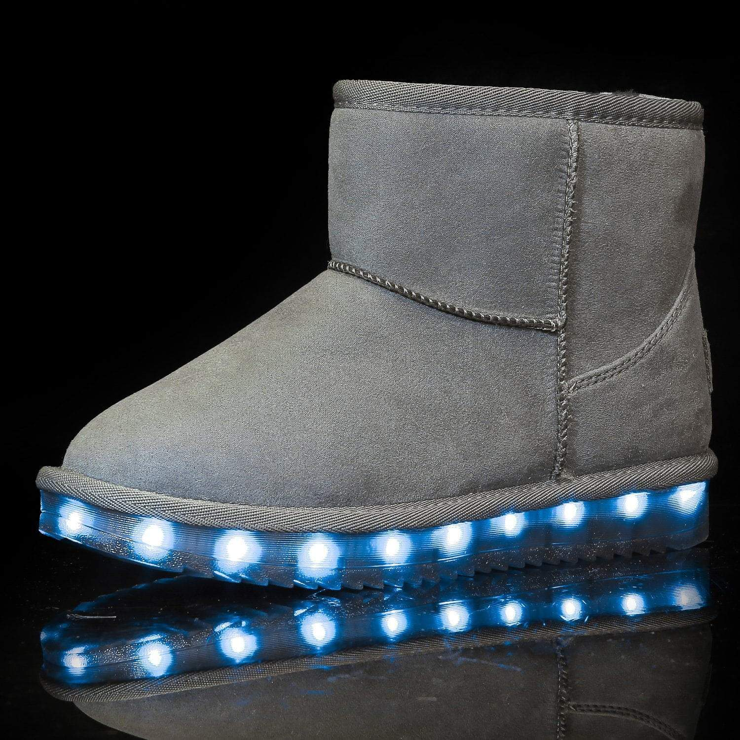 Flashez LED Footwear - Flash Wear LED Grey Mini Boots