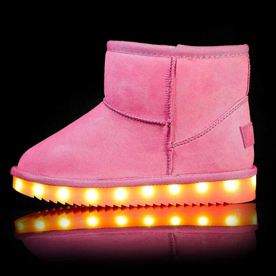 Flashez LED Footwear - Flash Wear LED Pink Mini Boots