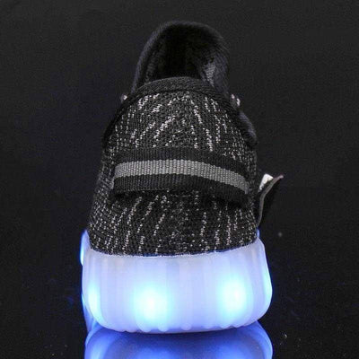 Flashez LED Footwear - Flashes Infants Black - L.E Deezy Shoes