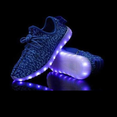 Flashez LED Footwear - Flashez Infants Blue - L.E Deezy Shoes