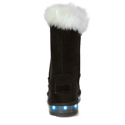 Flashez LED Footwear - Infants Flash Wear Black Calf Boots