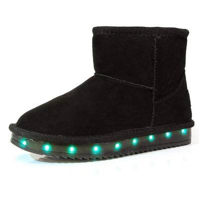 Flashez LED Footwear - Infants Flash Wear Black Mini Boots