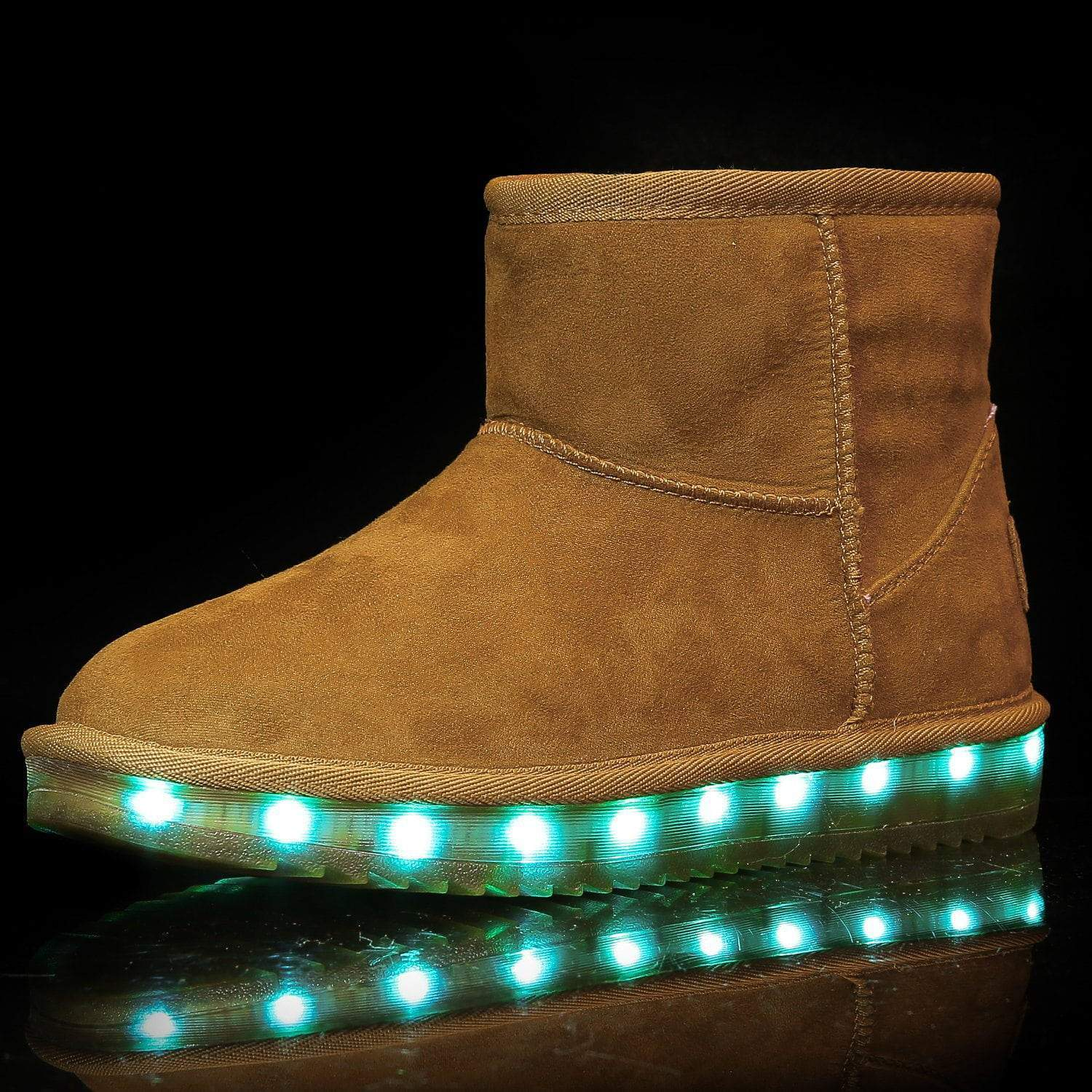 Flashez LED Footwear - Infants Flash Wear Chestnut Mini Boots
