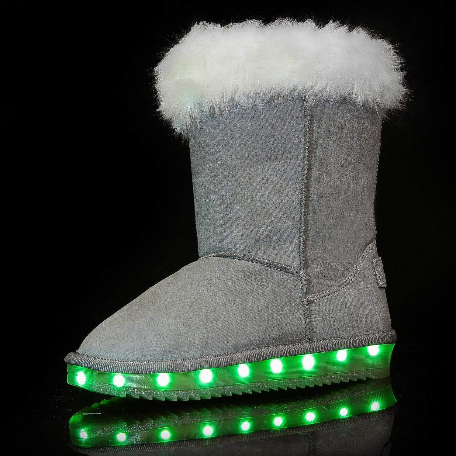 Flashez LED Footwear - Infants Flash Wear Grey Calf Boots