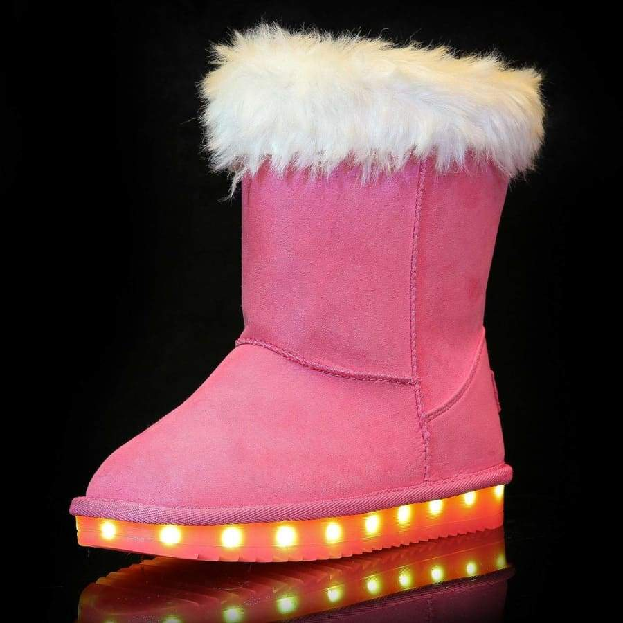 Flashez LED Footwear - Infants Flash Wear Pink Calf Boots