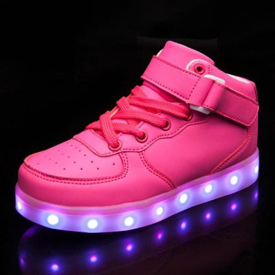 Flashez LED Footwear - Infants Flash Wear Pink Hi-Tops