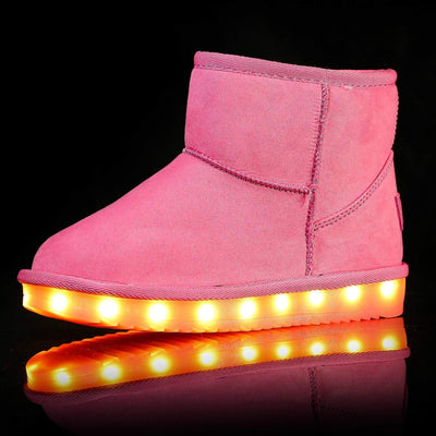 Flashez LED Footwear - Infants Flash Wear Pink Mini Boots