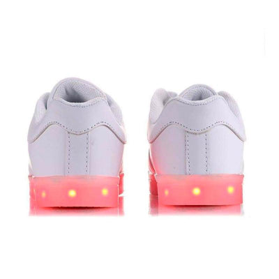 Flashez Official Shoes - Flashez LED Trainers - White Classics