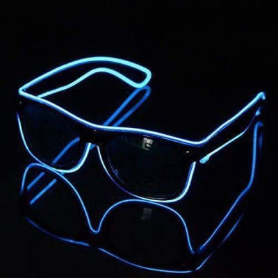 Glasses - Light Up LED Glasses - Blue