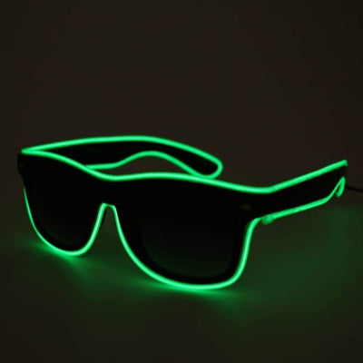 Glasses - Light Up LED Glasses - Green
