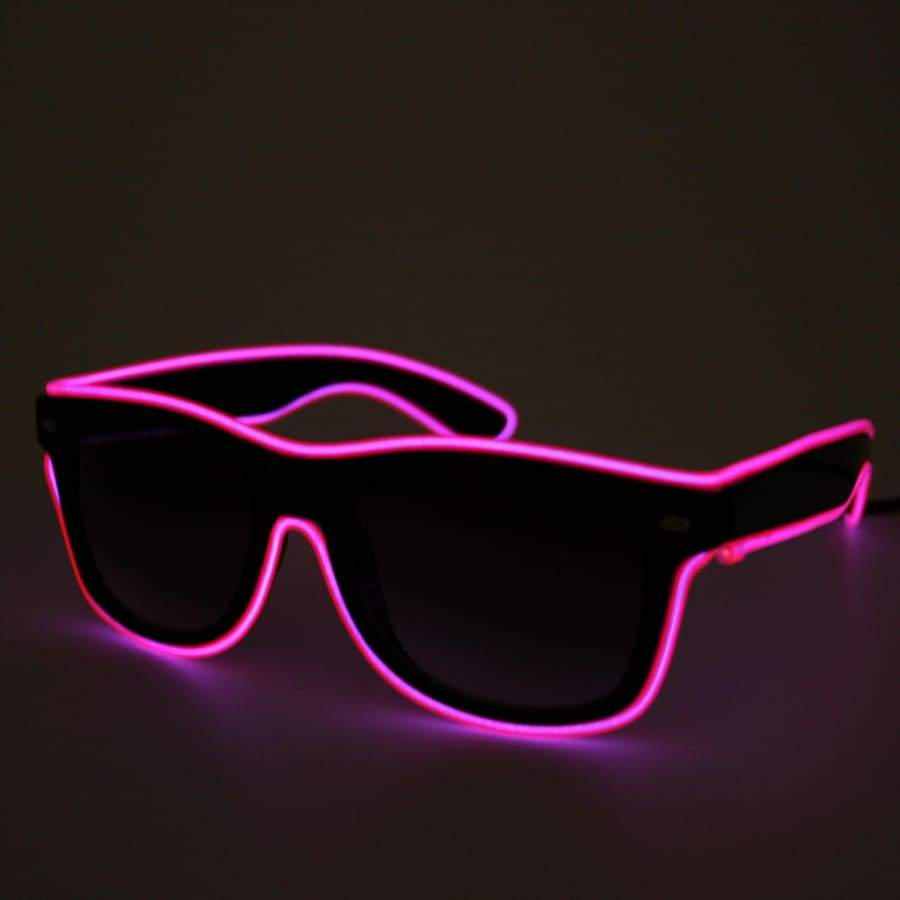 Glasses - Light Up LED Glasses - Pink